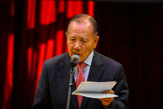 ▲ 기자회견에서 영화제 계획을 설명하는 김동호 조직위원장.