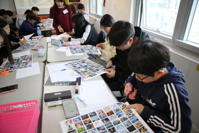 ▲ 바인그룹 청소년 사회공헌 리더십 프로그램 '위캔두'에 참가한 학생들 모습.