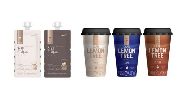 ▲ 서울에프엔비가 선보인 킹스밀과 카페 레몬트리 제품들.