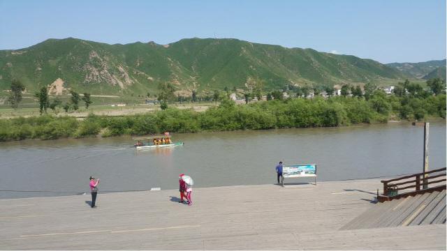 ▲ 북한과 중국의 국경을 가로지르는 두만강
