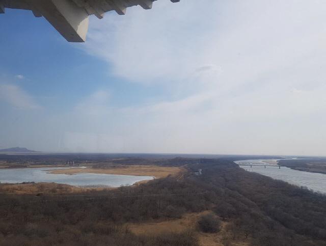 ▲ 중국 훈춘시 방천전망대에서 바라본 북한과 러시아