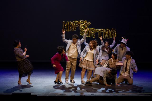 ▲ 5일 춘천문화예술회관에서 열린 도립극단의 '샤우팅-꿈꾸는 청춘' 공연 모습