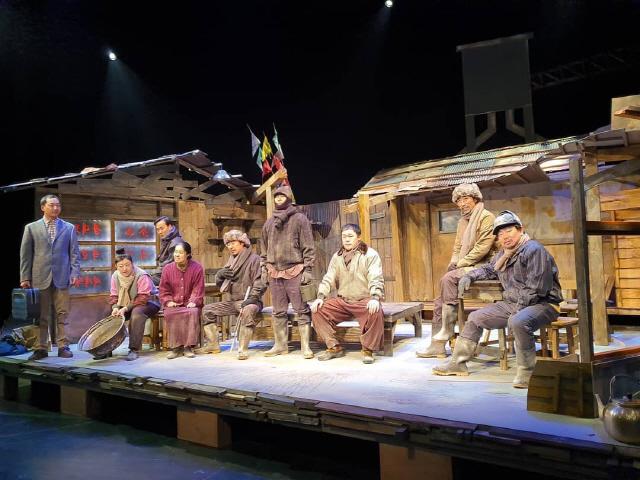 ▲ 극단  파.람.불.의 연극 '그날,그날에' 리허설 모습