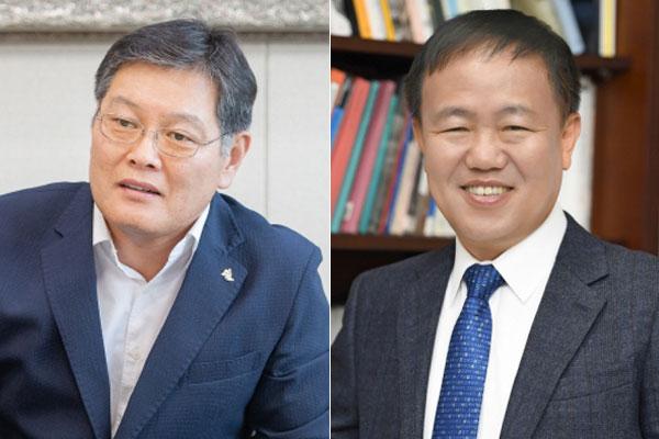 ▲ 이경일 고성군수(왼쪽), 이재수 춘천시장