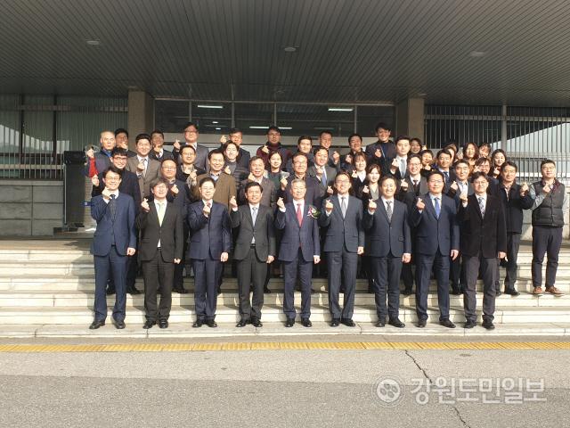 ▲ 박성진 제66대 춘천지검장의 이임식이 10일 오전 춘천지검에서 열렸다.
