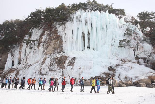 ▲ 어디에서 찍더라도 그림엽서 같은 인생 샷을 건질 수 있는 절경 사이의 한탄강 얼음트레킹 코스