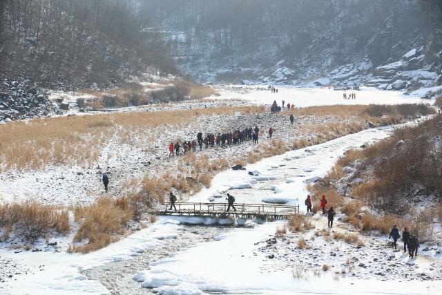 ▲ 한탄강 얼음트레킹 코스에서만 만날 수 있는 설경
