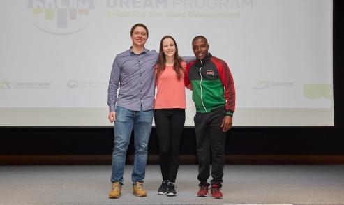 ▲ 동계스포츠 선수로 활약하고 있는 2020 드림프로그램에 참가한 홈커밍 참가자 3명의 모습.