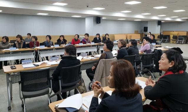 ▲ 춘천시여성단체협의회 2019년 결산총회가 15일 시청 민방위교육장에서 열렸다.