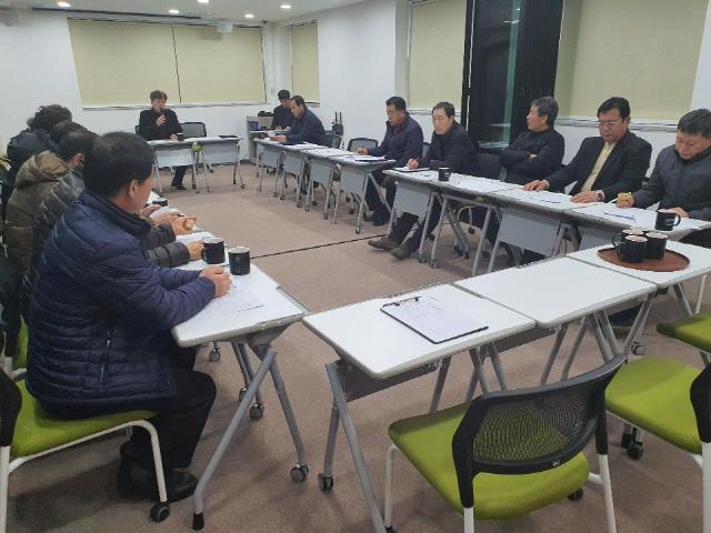 ▲ 춘천시 이통장연합회 월례회의가 지난달 31일 사회혁신파크에서 열렸다.