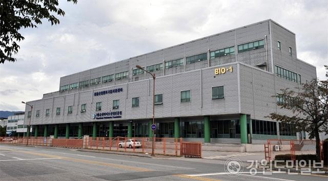 ▲ 춘천바이오산업진흥원 벤처타운 전경
