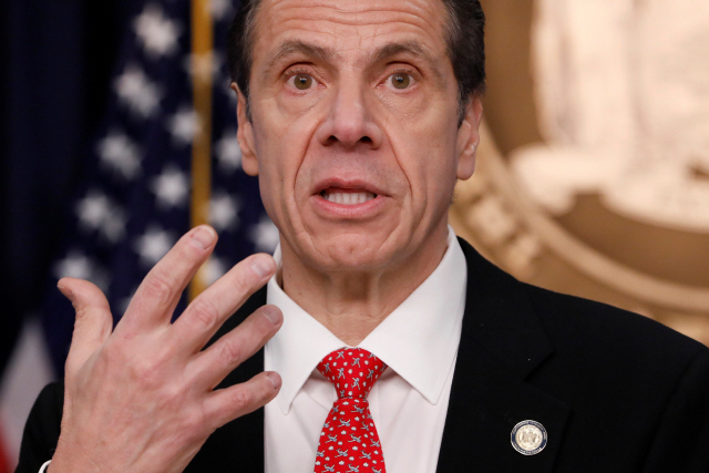 ▲ New York Governor Andrew Cuomo delivers remarks at a news conference regarding the first confirmed case of coronavirus in New York State in Manhattan borough of New York City, New York, U.S., March 2, 2020. REUTERS/Andrew Kelly