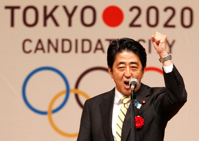 ▲ FILE PHOTO: Japan's Prime Minister Shinzo Abe gestures as he speaks during Tokyo 2020 kick off rally in Tokyo August 23, 2013.  REUTERS/Yuya Shino/File Photo <All rights reserved by Yonhap News Agency>