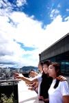 파란 하늘 환한 웃음