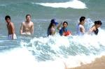 해수욕장은 한여름