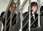 굳은 표정 법정 향하는 김기춘·조윤선