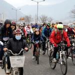 영월군민 성공 올림픽 염원 '힘찬 페달'