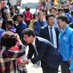 유승민 바른정당 대선후보 원주 중앙시장 거리유세