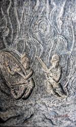 풍화로 마모된 불상 '돌에 새겨진 염원'