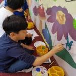 용정초 마을선생님과 벽화그리기 활동