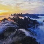강원의 산하 사진공모대전 금상에 '설악산의 노을'