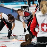 여자컬링, 세계 2위 스위스 격파 '2승 1패'