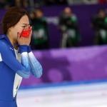 빙속 여제의 아쉬운 눈물