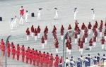 북 응원단 공연 연습