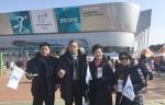 양구군의회 아이스하키 경기 응원