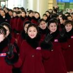 떠나는 북한 응원단