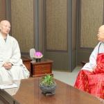 설정·편백운 스님 '하나가 되는 불교 대화합' 환담