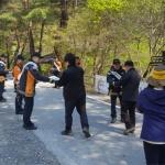 정선소방서 산악안전사고 예방 합동캠페인