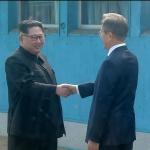 남북정상 군사분계선서 역사적 만남