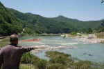 영월 남한강 임시가교 폭우에 유실