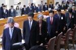 법원장 ' 재판거래 의혹' 7시간 격론