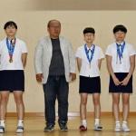 북평여중 전국소년체전 입상 선수 메달 수여식