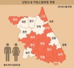 도내 읍면동 10곳 중 6곳 이상 '소멸' 위기