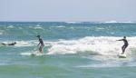봉수대 서핑 한창
