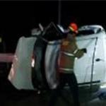 미시령 터널 인근 승용차 정면충돌…부부 사망, 4명 중경상