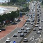 동해안 피서객 397만명 감소에도 고속도로 통행량 182만대 늘어