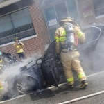 한동안 잠잠하더니…평창서 BMW 520d 주행 중 화재