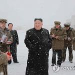 북한 김정은, 삼지연군 건설현장 시찰…올해 세 번째