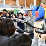 다문화가정 행사 대형 김밥만들기