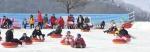 화천산천어축제 대형 눈썰매장 인기