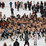 대관령눈꽃축제 알몸마라톤대회