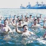 해군 1함대 혹한기 해상 구조 훈련