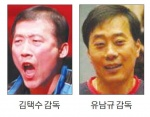 남녀 탁구대표팀 감독 공모, 나란히 단독 신청