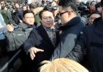 김진태 의원 당 대표 후보등록 광주 방문 5·18 유공자 등 항의