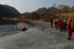 영월소방서 해빙기 수난구조 훈련