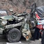 철원서 화물차·군용지프 충돌…군인 2명 사망·4명 중경상